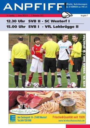 Anpfiff 14. Spieltag 02.11.2013
