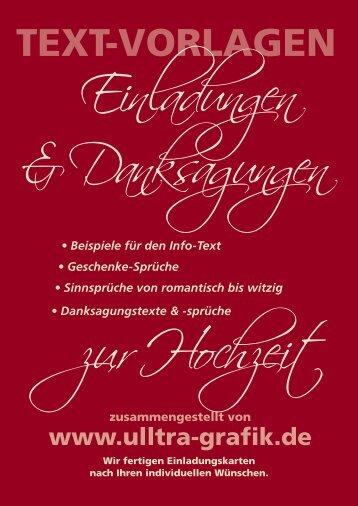 Beispieltexte für die Danksagung - Einladungskarten Hochzeit ua ...