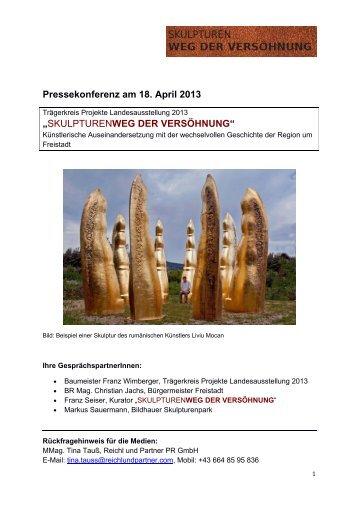 SKULPTURENWEG DER VERSÖHNUNG - Reichl-presseportal.at