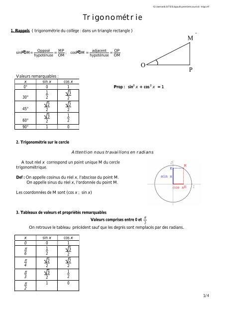 Trigonometrie Gault