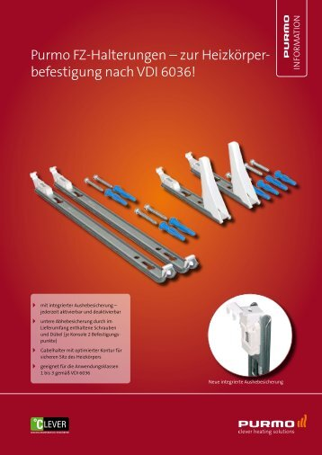 Neue Purmo FZ-Halterungen / VDI 6036