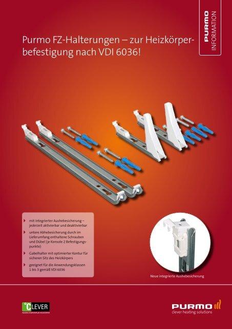 Halterung für Typ11 Heizkörper Befestigungsschiene mit Dübel und Schrauben