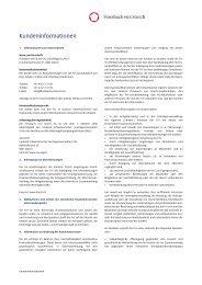 Kundeninformation - Flossbach von Storch
