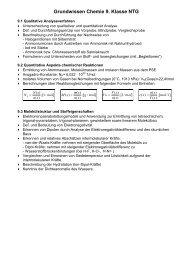 Grundwissen Chemie 9. Klasse NTG