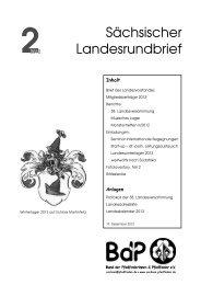 Sächsischer Landesrundbrief - BdP Landesverband Sachsen