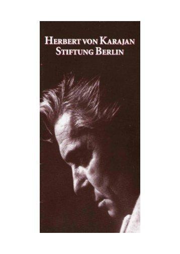 Herbert von Karajan-Stiftung - arts Ralph Braun