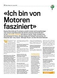 Ich bin von Motoren fasziniert» Bastien Girod - Philipp Löpfe