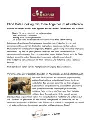 Blind Date Cooking mit Come Together im Allwetterzoo