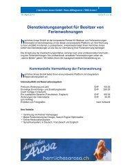 Dienstleistungen herrliches Arosa GmbH