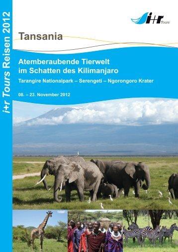 "Reiseinformationen über ""Tansania"" als PDF - Ir-tours.de"