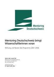 Wirkung und Nutzen des Programms 2001-2006 - Mentoring ...