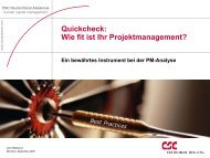 Quickcheck: Wie fit ist Ihr Projektmanagement?