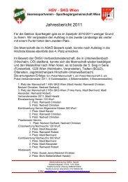 Jahresbericht 2011 - Heeressportverein WIEN