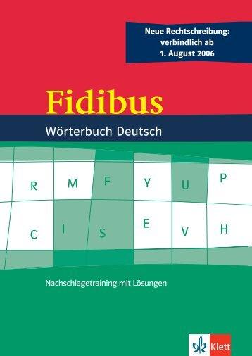 Q W M I F S Y E V U P A C H R WörterbuchDeutsch - Ernst Klett Verlag