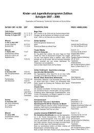 Jahresprogramm 2007-2008 - Kulturkreis Zollikon