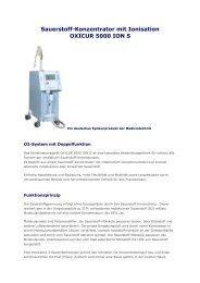 oxicur 5000 ion s - Gesundheitszentrum Vital