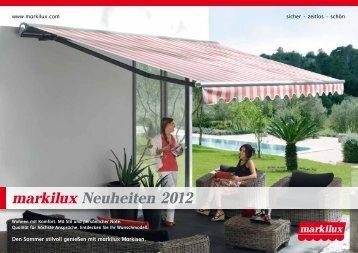 Prospekt markilux Neuheiten 2012.pdf - kos sonnenschutz
