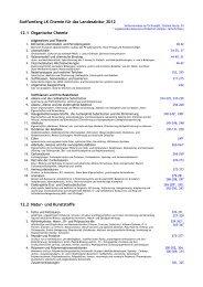 Stoffumfang LK Chemie für das Landesabitur 2012 12.1 Organische ...