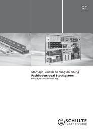 Montage- und Bedienungsanleitung Fachbodenregal Stecksystem