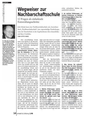 Umwelt 3/98 - Forum Umweltbildung