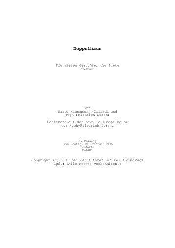 Doppelhaus Drehbuch - Hugh-lorenz.com