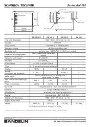 Series RM 180 - Bandelin electronic