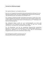 Informationen und Vordrucke für ehrenamtliche Betreuer/innen