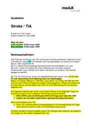 Stroke TIA - mediX schweiz