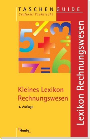 Kleines Lexikon Rechnungswesen - Die Onleihe