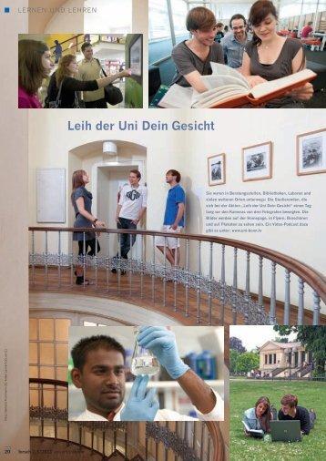 Leih der Uni Dein Gesicht - Universität Bonn