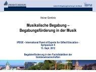 Musikalische Begabung – Begabungsförderung in der Musik