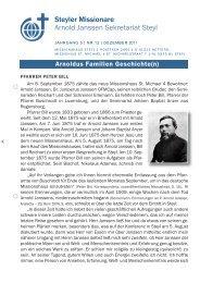 Rundbrief Nr. 12/2011 - Steyler Freundes- und Partnerkreise