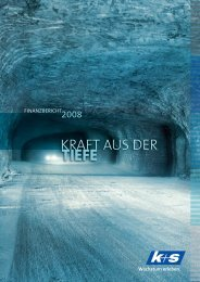 KRAFT AUS DER - Finanzbericht 2008 - K+S Aktiengesellschaft