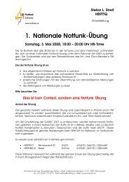 1. Nationale Notfunk-Übung