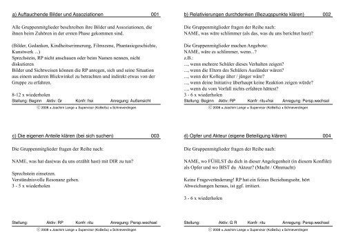 Konfrontationsmethoden in Stichworten - NiBiS WordPress Netzwerk