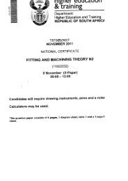 Fitting and Machining Theory N2 November 2011 QP - Eureka ...