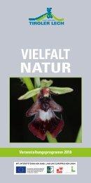 VIELFALT NATur - Naturpark Tiroler Lech