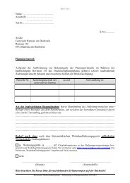 Planungswünsche Revision 5.0 Flächenwidmungsplanes