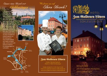 """""""Zum Goldenen Löwen"""", Schleusingen - Flyer - Thüringen"""