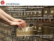 Vortrag: PDF - und Universitätsbibliothek Bremen
