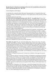 Jahresbericht 1998 - Evangelische Krankenhausseelsorge in ...