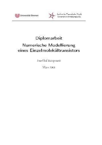Diplomarbeit Numerische Modellierung eines ... - TU Dortmund