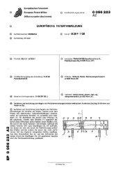 Verfahren und Vorrichtung zum Regeln von Perforiereinrichtungen ...