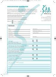 Medizinischen Fragebogen als PDF downloaden - Hotel Neptun