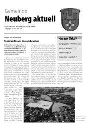 NEUBERG aktuell, Ausgabe 06/2004 - Gemeinde Neuberg