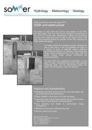 GSM unit battery/solar Hydrology • Meteorology • Geology