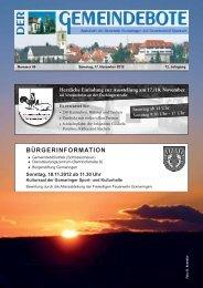 Ausgabe :Gomaringen 17.11.12.pdf - Gomaringer Verlag