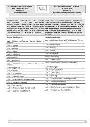 capitolato oneri - Betrieb für Sozialdienste Bozen
