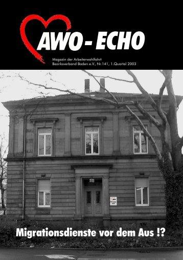1. Quartal 2003 | Awo-Echo Ausgabe 141 - AWO Baden