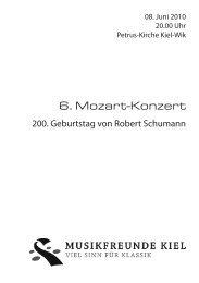 200. Geburtstag von Robert Schumann - Musikfreunde Kiel